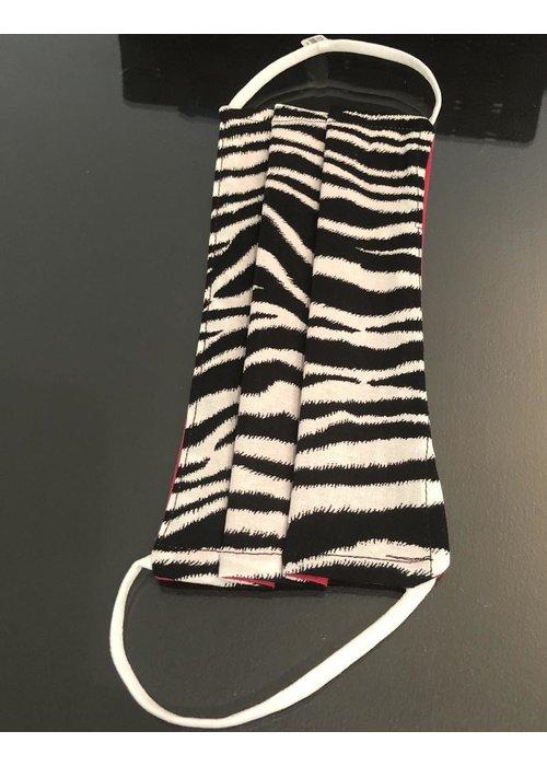 Accessories Black/White Zebra Mask