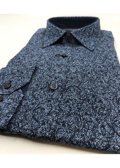 Bugatchi Bugatchi Long Sleeve Floral Cotton Shirt