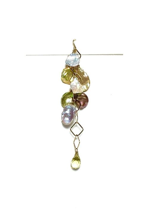 Andrea Barnett Keishi pearl and lemon quartz earrings