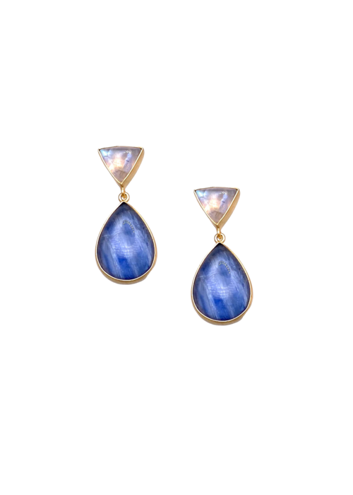 Dina Mackney Moonstone plus kyanite earrings