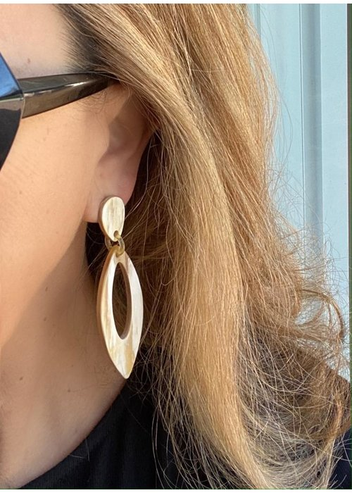 Dina Mackney Horn drop earrings