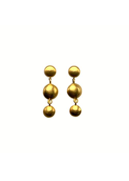 Dina Mackney Triple gold post earrings