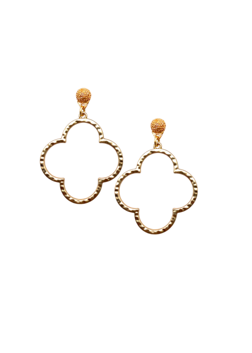 Dina Mackney Quatrefoil earrings