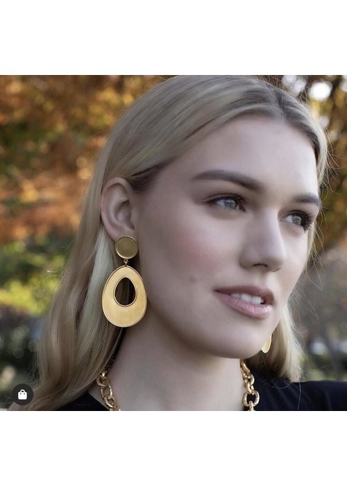 Dina Mackney Bold gold statement earrings