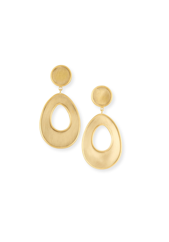 Bold gold statement earrings