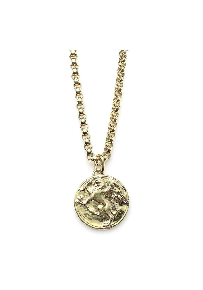 Griffin coin pendant and necklace set