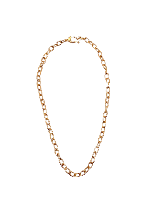 "Dina Mackney 18"" Med hammered chain"