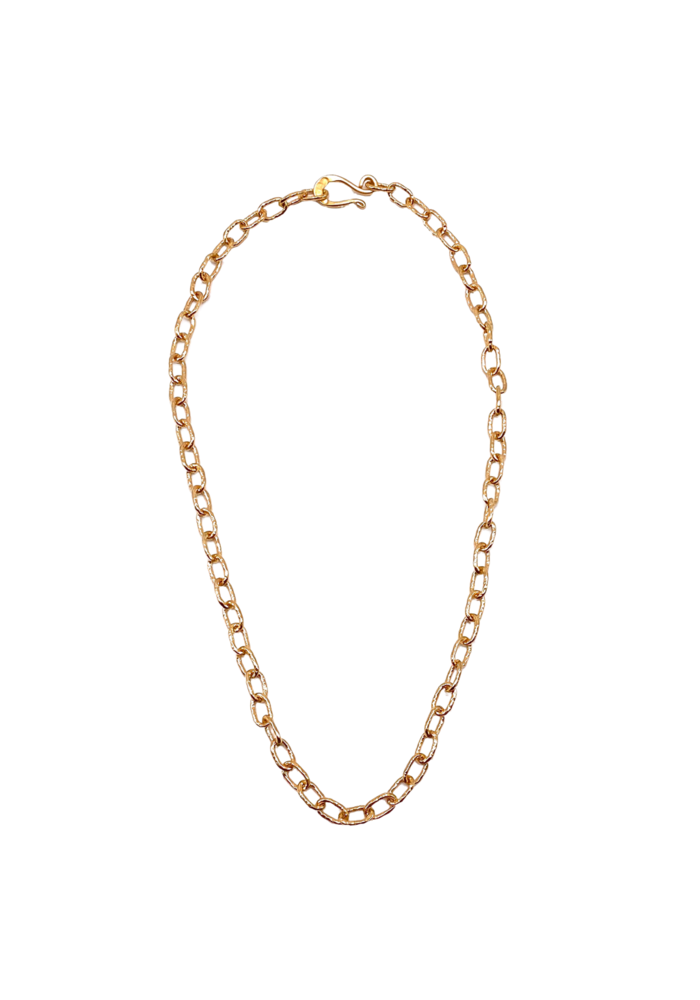 """18"""" Med hammered chain"""