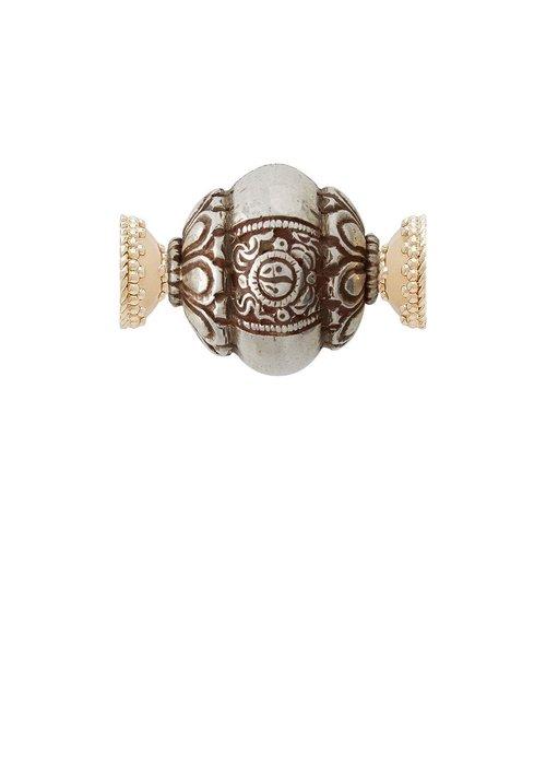 Clara Williams Lotus carved silver centerpiece