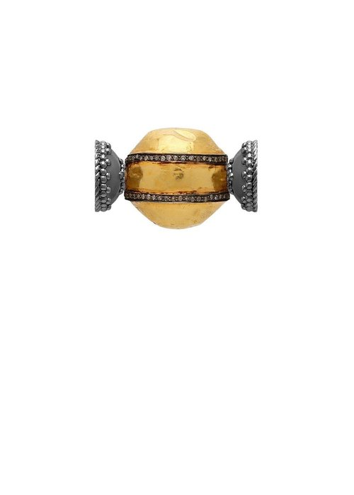 Clara Williams 18k Gold and diamond centerpiece, with gold signature clasps