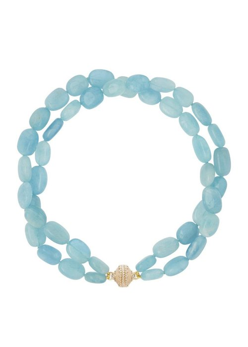 Clara Williams Helen aquamarine double strand necklace