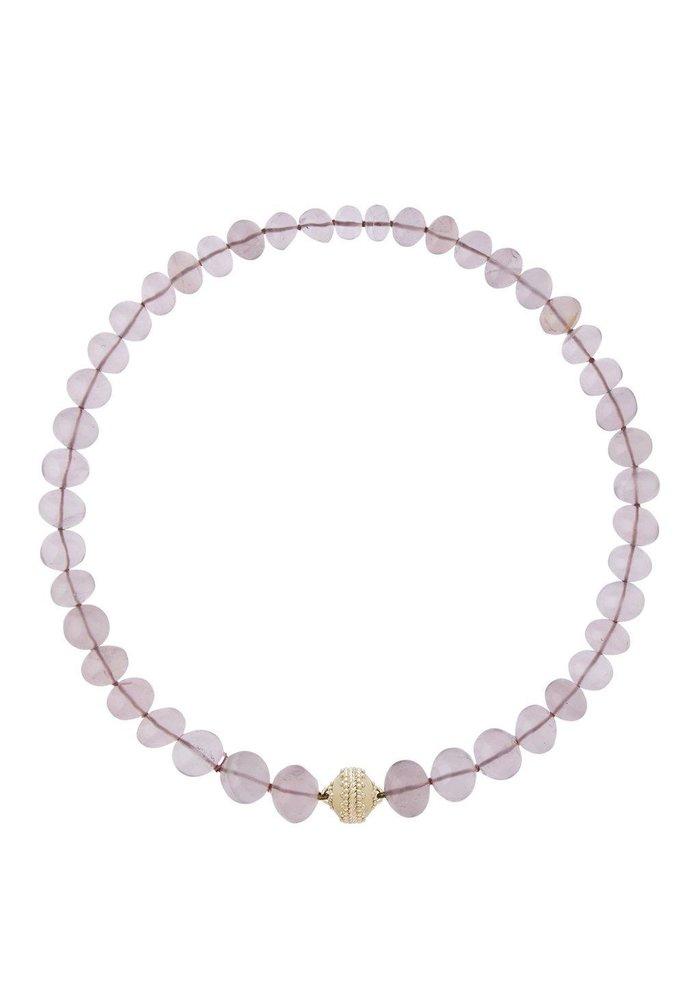 Rose quartz necklace from Clara Williams