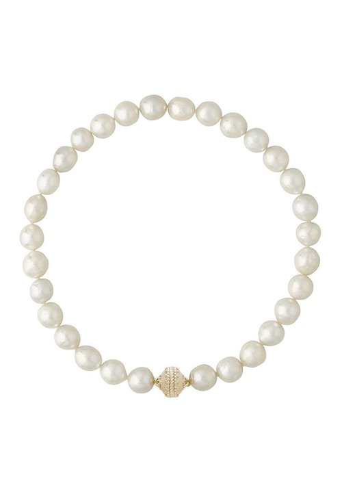 Clara Williams White baroque pearl 11-13mm necklace from Clara Williams
