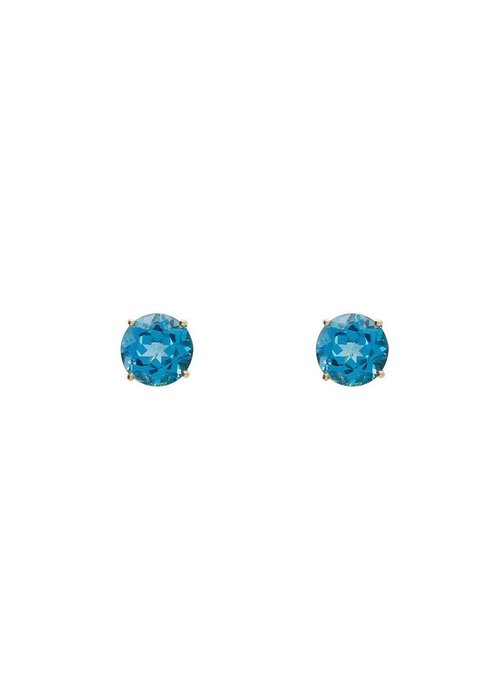 Clara Williams Lumiere Swiss blue topaz circle earrings