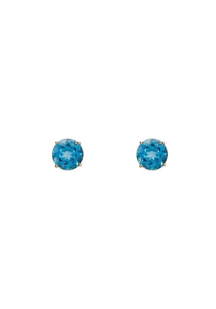 Lumiere Swiss blue topaz circle earrings