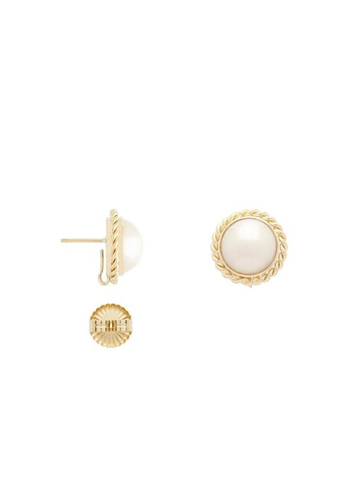 Clara Williams 18K large pearl earrings