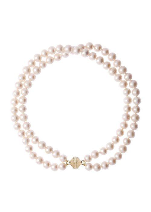 "Clara Williams Clara Williams Company Freshwater White Potato Pearl Necklace, Double Strand, 16.5""L"