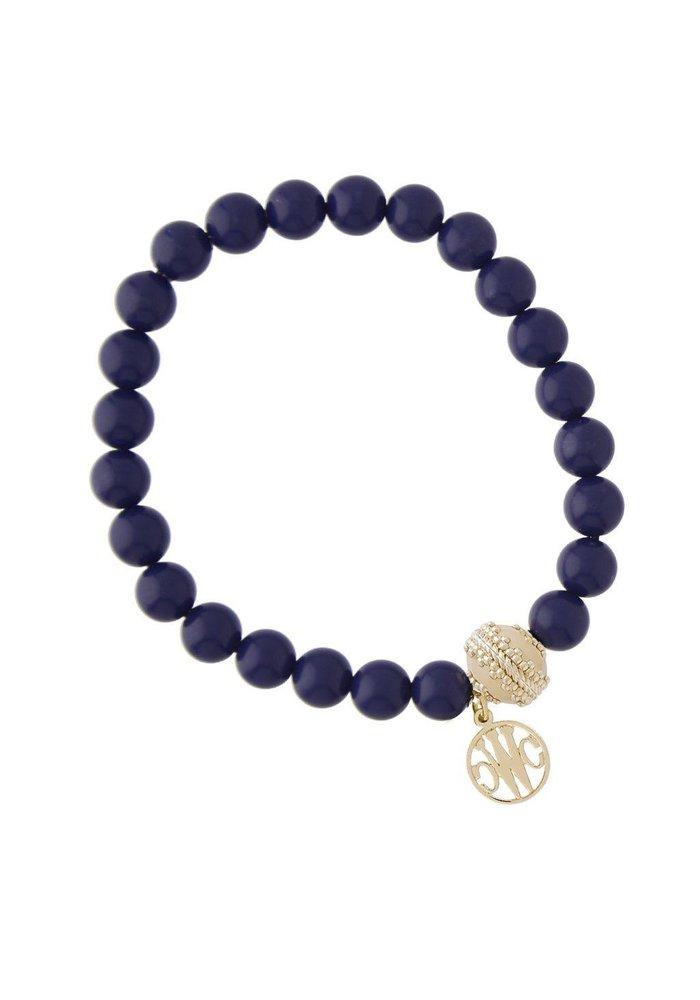 Victoire Reconstituted Lapis Stretch Bracelet