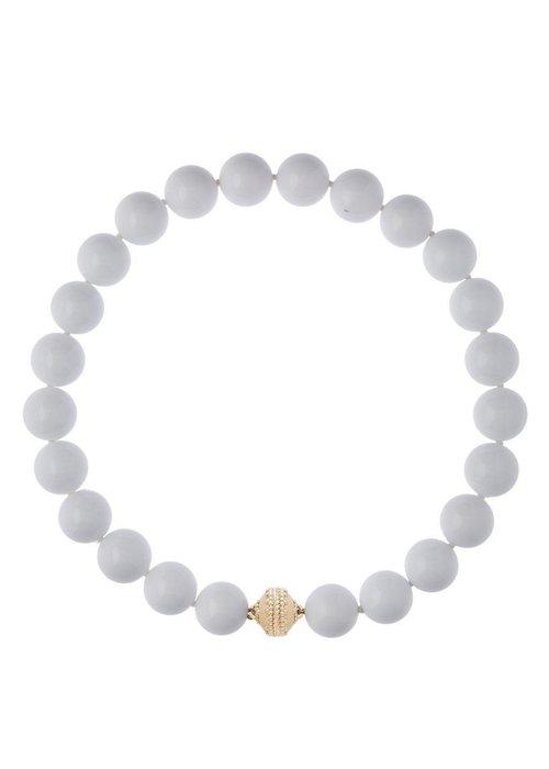 Clara Williams Victoire White Agate 16mm Necklace LTD