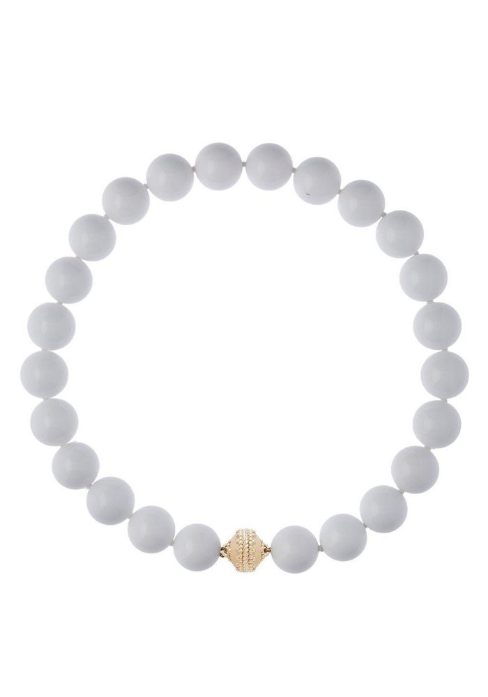 Victoire White Agate 16mm Necklace LTD