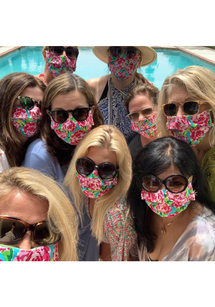Lilly Floral Mask