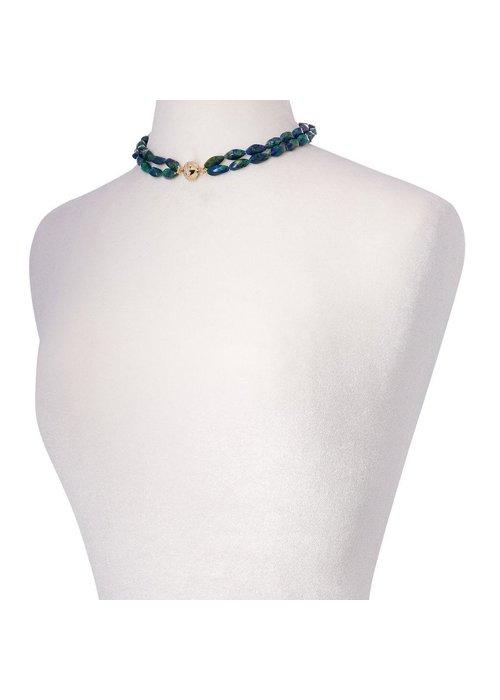 Clara Williams Clara Williams Azurite Malachite Double Strand Necklace