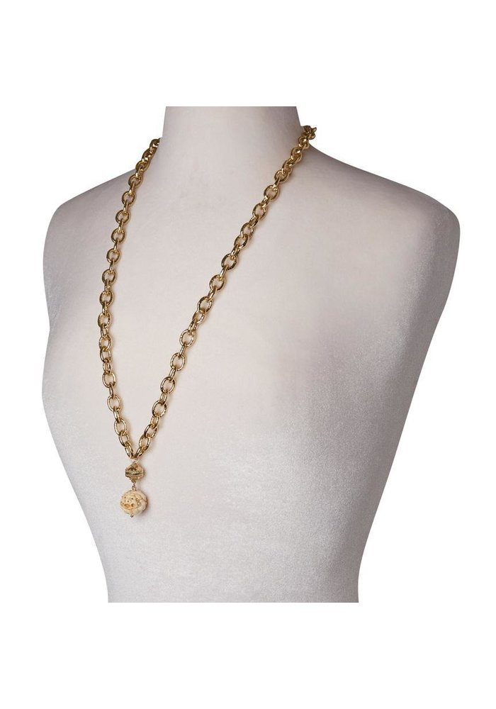 Clara Williams Wabash 14k Gold Plated Necklace, 2 Strands, 16.5L