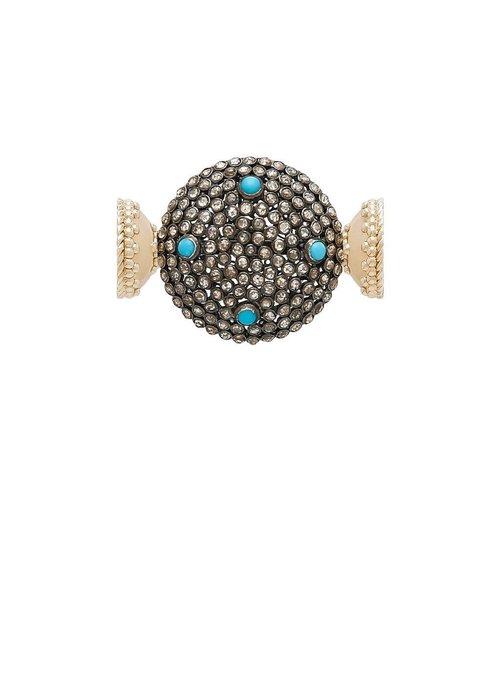 Clara Williams Clara Williams LTD Diamond and Turquoise SS Centerpiece