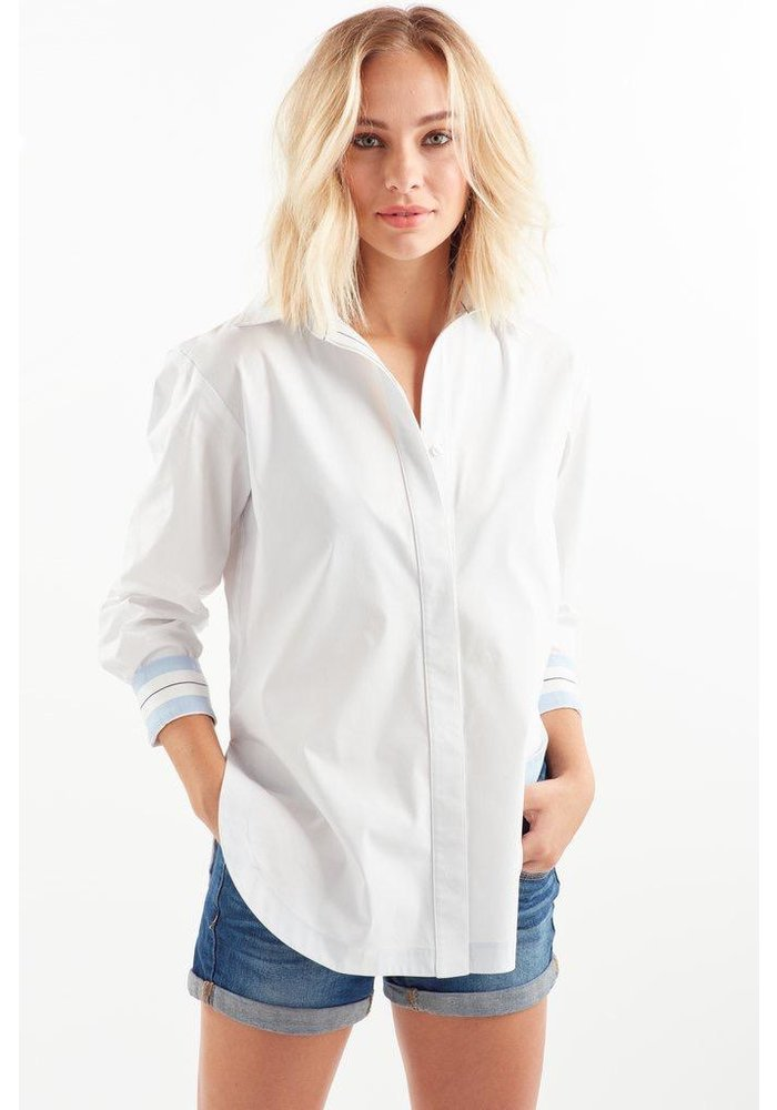 Finley Solid Boyfriend Shirt