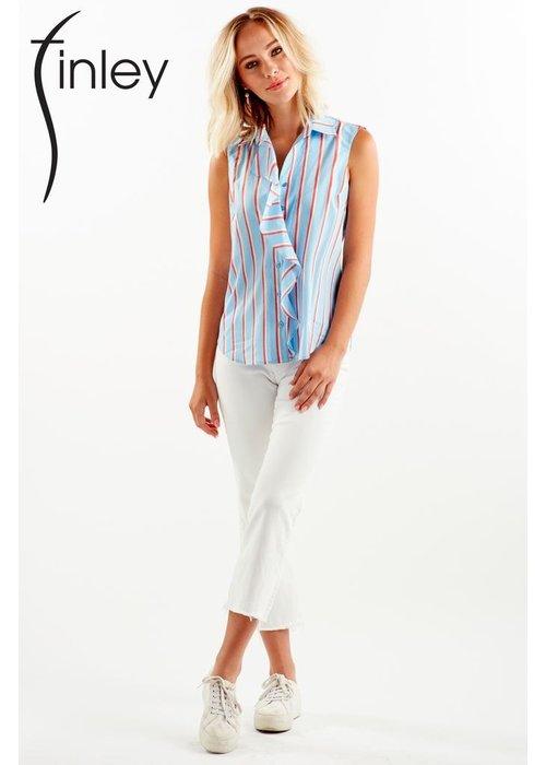 Finley Shirts Finley Sparkle Stripe Amber Shirt