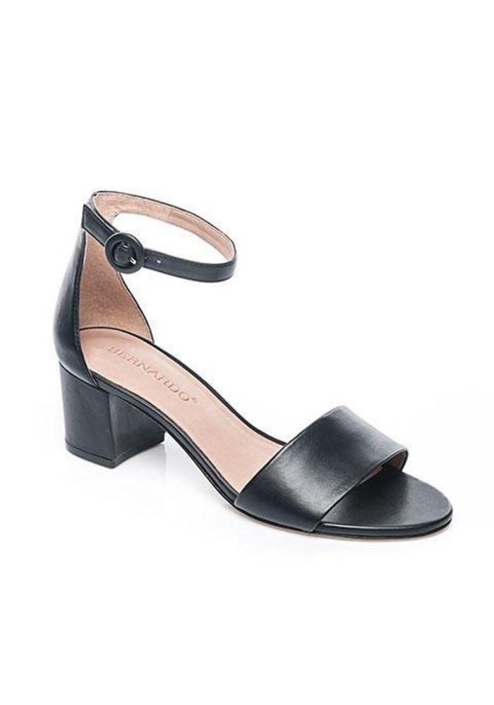 "Bernado Belinda 2"" Block Heel Leather Sandal."