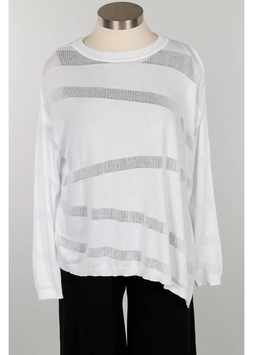 PLANET by Lauren G Planet Illusion Knit Shirt