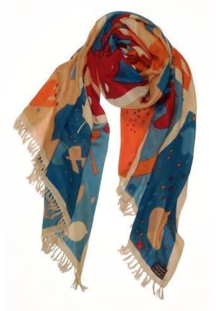 """Cashmere Wrappings, Leaf Study 36"""" by 80"""""""