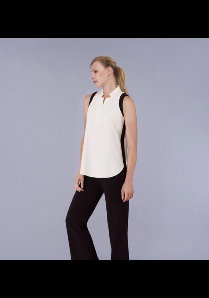 Sleeveless 2 tone Shirt