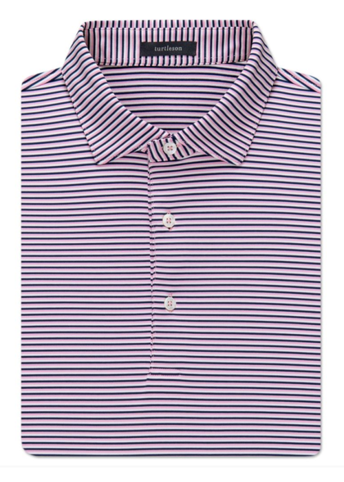 Turtleson Conner Stripe Performance Polo