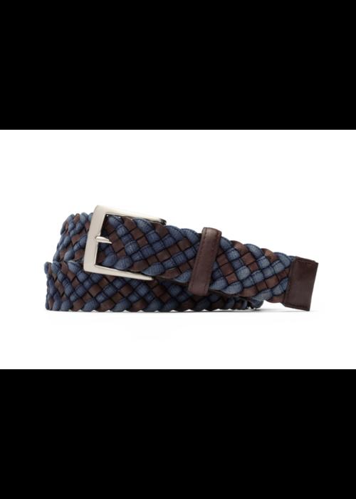"Kleinberg W. Kleinberg 1 3/8"" Leather Cloth Braid Belt"