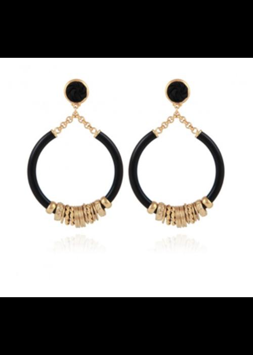 Gas Bijoux Gas Bijoux Earrings, Mariza Acetate Small Size, plated in 24k Gold