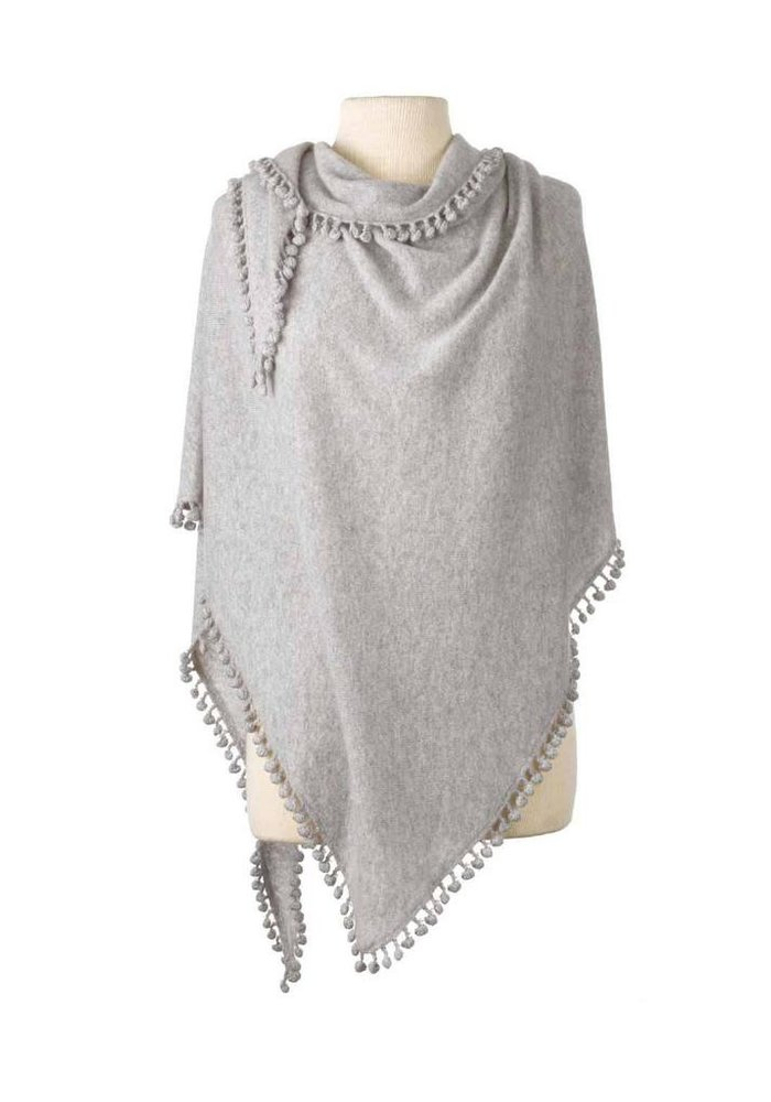 Captiva Cashmere Pom-Pom Triangle Wrap