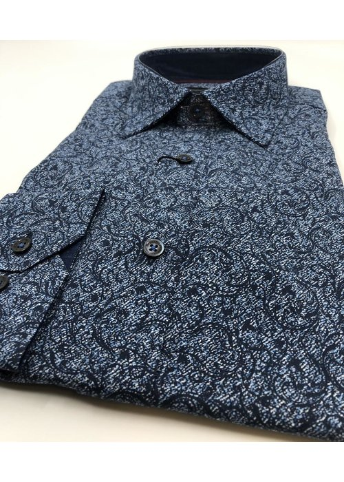 Bugatchi Bugatchi Long Sleeve Floral Cotton Shirt