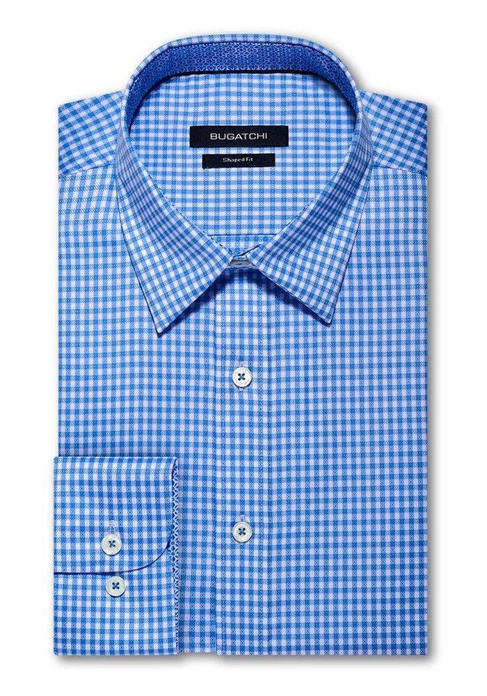 Classic Fit, Long Sleeve Mini Check 100% Cotton Shirt