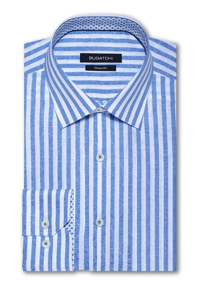 Classic fit 100% cotton, long sleeve shirt from Bugatchi