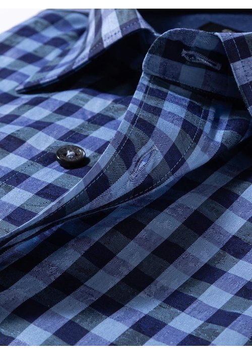 Bugatchi Classic fit 100% cotton, long sleeve shirt with point collar from Bugatchi