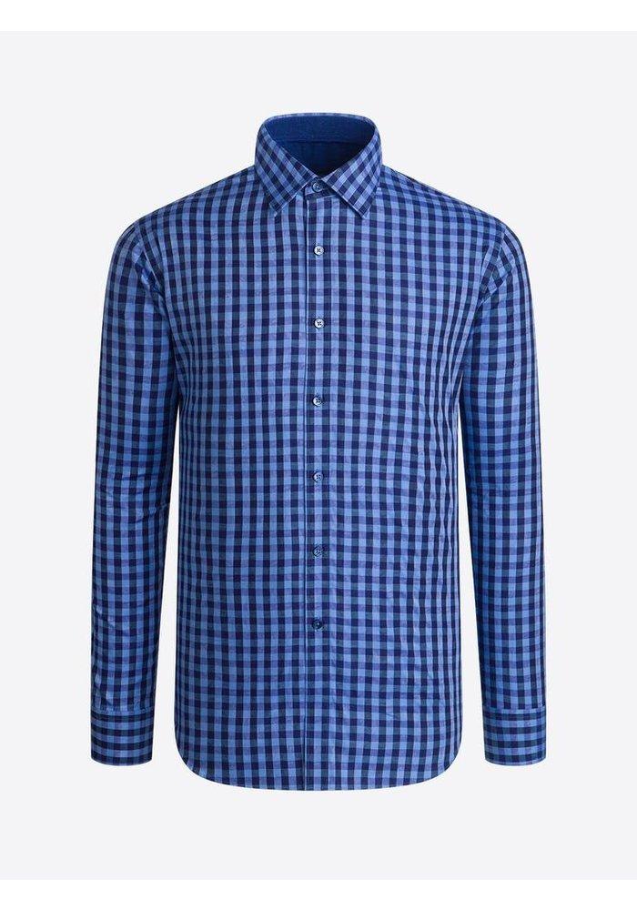 Classic fit 100% cotton, long sleeve shirt with point collar from Bugatchi