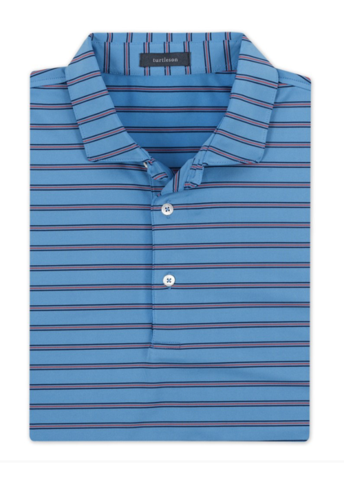 Turtleson Raymond Stripe Performance Polo