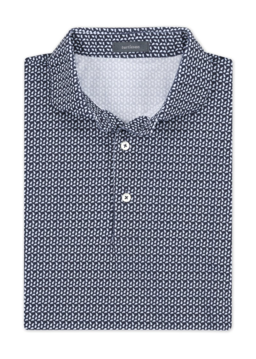Turtleson Leon Paisley Pique Performance Polo