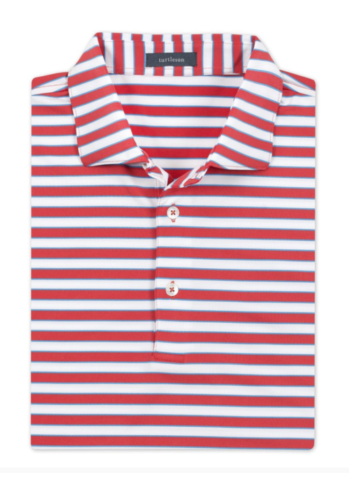 Turtleson Powell Stripe Performance Polo
