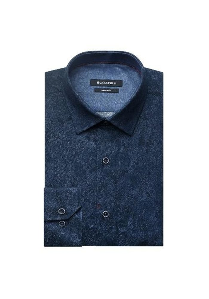 Point Collar Sports Shirt with French Placket