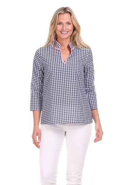 Duffield Lane Layla Top in Gingham