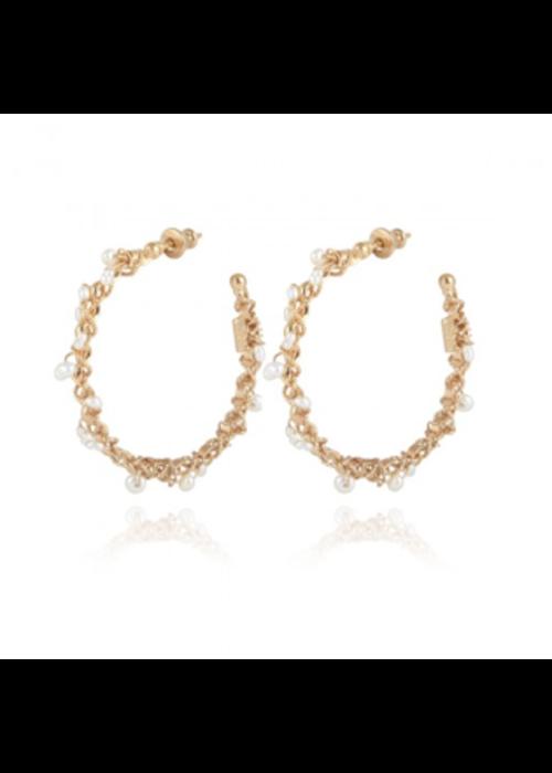 Gas Bijoux Gas Bijoux Earrings, Creole orphee, plated in 24k Gold