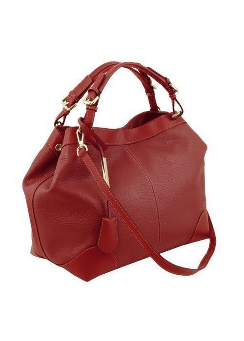 Tuscany Leather Tuscany Leather Soft Leather Bag with Shoulder Strap